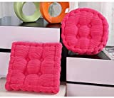 TWGDH Pana Engrosamiento Antideslizante Silla Silla de algodón Cojín Decoración Tatami del Asiento del cojín Soft Office Cojines de Coches Sit Mat (Color : Pink, Specification : 40x40CM Square)