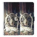 vingarshern Hülle für DOOGEE X30 Handytasche Klappbares Magnetverschluss Lederhülle Flip Etui Standfunktion Schutzhülle DOOGEE X30 Hülle Leder Brieftasche-(Tiger) MEHRWEG