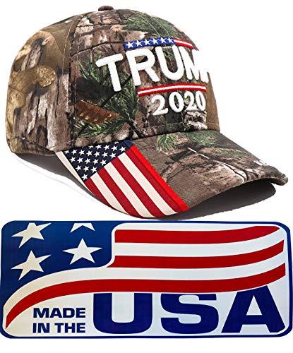 Donald Trump Hat 2020 MAGA Keep America Great Camo Hat Adjustable Baseball Cap Hat (Camo)