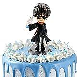 Mago Mini Figuras, Harry Potter Cake Topper Decoración Mini Juguetes Baby Shower Fiesta de cumpleaños Pastel Decoración Suministros