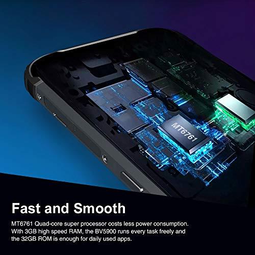 Téléphone Portable Incassable,Blackview BV5900 Smartphone Débloqué 4G Pas Cher,Android 9.0,Écran 5.7HD,5580mAh Batterie,32Go+3Go,Dual SIM,13MP+5MP,NFC/FM/IP69K/Empreinte Digitale,Antichoc Étanche-Noir
