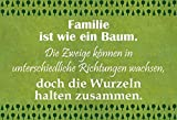 FS Familie ist wie EIN Baum. Die Zweige. Blechschild Schild gewölbt Metal Sign 20 x 30 cm