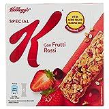 Kellogg's - Barrette di cereali, con Frutti Rossi - 6 pacchetti...
