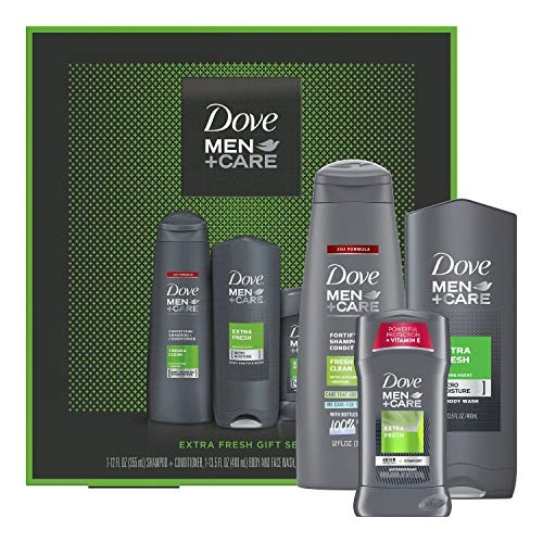 DOVE MEN + CARE Limited Edition Men's Holiday Grooming Gift Pack Extra Fresh Body Wash,...