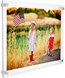 12x16 Clear Floating Acrylic Picture Frame,16x12 Inch Wall Mount Plexiglass Picture Frames for Poster Signs Certificate Art Painting Photography Photo Display - Lucite Clear Frameless Wall Photo Frame
