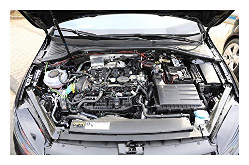 JHDS Admite Amortiguadores para VW para Golf MK8 MQ8 2019- Capó Delantero Modificar Puntales De Gas Soporte De Elevación Amortiguador Elevador Frontal del Capó Coche