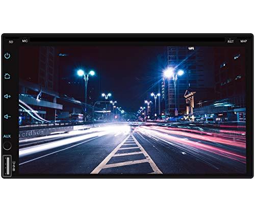 Tristan Auron BT2D7018A-DVD Android 9.0 Autoradio mit Navi I 7\'\' Touchscreen Monitor I Bluetooth Freisprecheinrichtung I Quad Core CD DVD GPS USB SD OBD 2 DAB+ fähig – Doppel Din