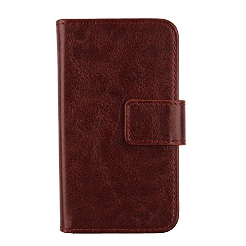 """Gukas Flip PU Billetera Design para Vernee V2 Pro 5.99"""" Funda De Carcasa Cartera De Cuero Case Cover Piel (Brown)"""