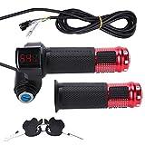 Manillar regulador acelerador eléctrico con indicador de batería LED y cierre con llave para alimentación de scooter...