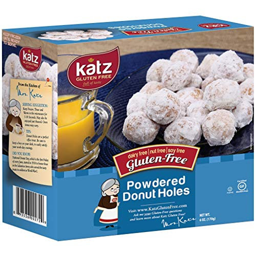 Katz Gluten Free Powdered Donut Holes | Dairy Free, Nut Free, Soy Free, Gluten Free | Kosher (6 Packs, 6 Ounce Each)