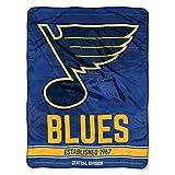 NORTHWEST NHL St. Louis Blues Micro Raschel Throw Blanket, 46' x 60', Break Away