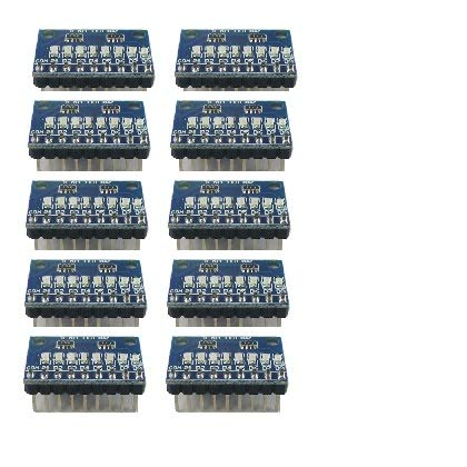3.3V 5V 8 Bit BlueCommon Anode/Cathode LED Indicator Module DIY kit for Arduino Nano UNO Raspberry pi 4 nodemcu Eletechsup (10, DM41A08_B_VCC)