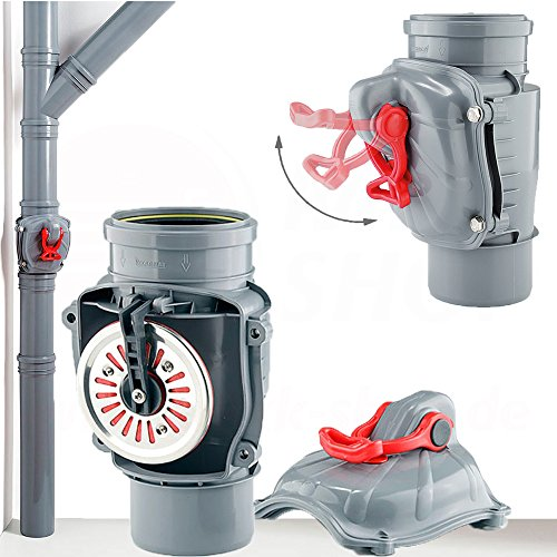 Rückstauklappe Rückstauverschluß Ø 110 mm senkrecht Rückstauventil HT KG Rohr Abwasserrohr Rückstau