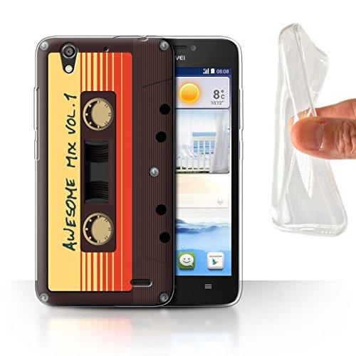 Hülle Für Huawei Ascend G630 Comic Wächter Inspiriert Genial Mix Tape Design Transparent Dünn Flexibel Silikon Gel/TPU Schutz Handyhülle Case