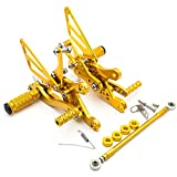 Krace Front Motorcycle Rearsets Footpegs Foot Pegs Rear Set Footrests Brake Shift Pedals Fully Adjustable Foot Boards Fit For Yamaha YZF R6 1999-2002