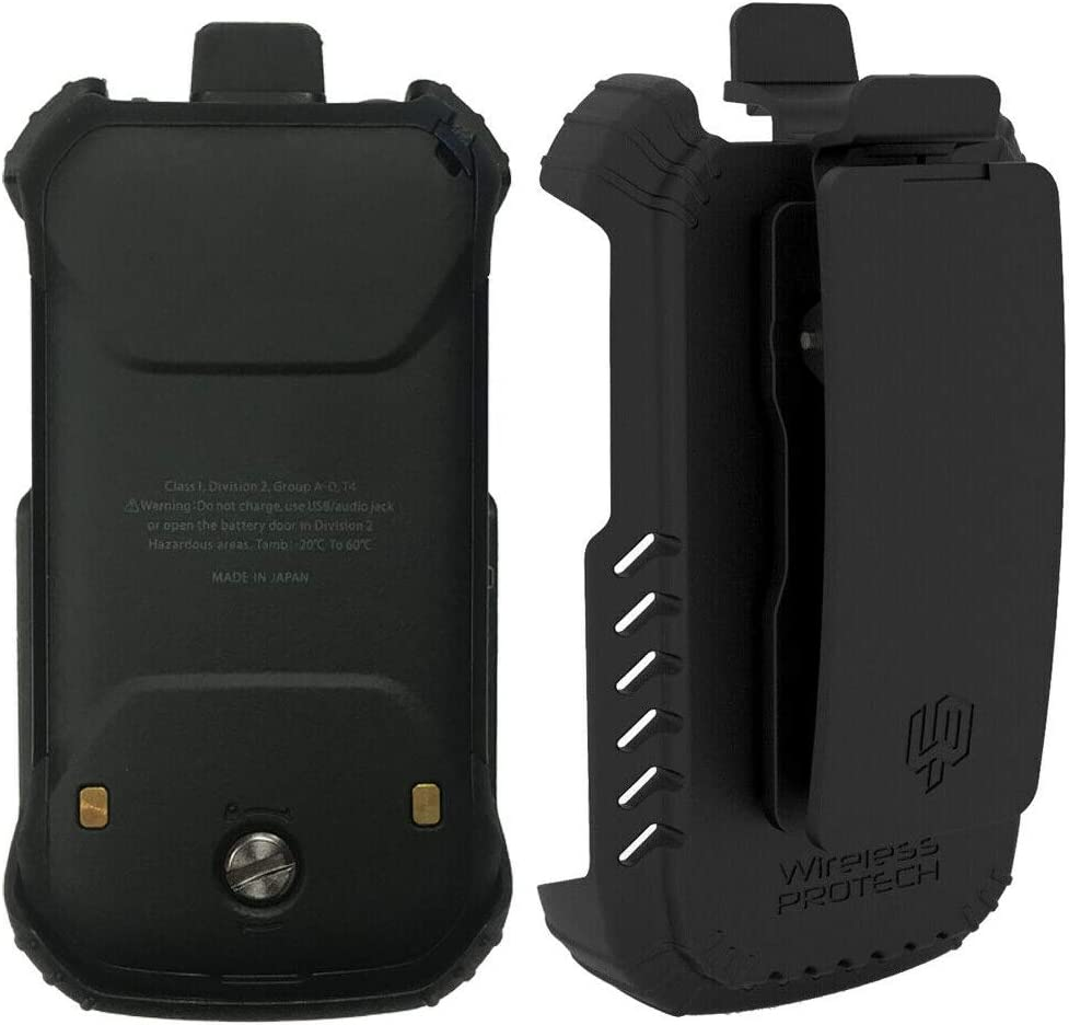 Wireless ProTech Case with Clip Compatible with Kyocera DuraXV Extreme E4810 Verizon, DuraXE Epic for AT&T E4830 and E4830NC, Secure fit Quick Release Latch Heavy Duty Swivel Belt Clip Holster