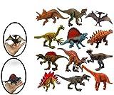 ML Pack de Juguetes Dinosaurios 12 PCS Figura de Dinosaurio Realista del Mundo prehistoricos Tiranousaurio Rex, Diplodocus Triceratops Velociraptor Pteosaurus de 18cm