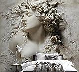 Papel Pintado 3D Escultura De Carácter De Estilo De Alivio Papel Pintado Pared Moderno Dormitorio Fotomurales Decorativos Pared 300cmX210cm