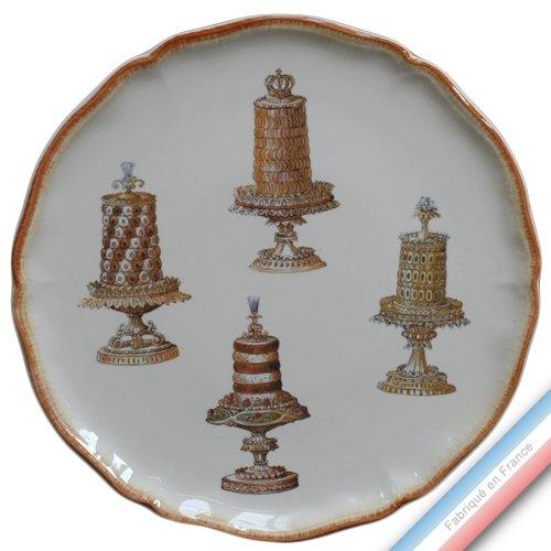 Lunéville 1730 Collection ECLECTICA - Coffret Plat Tarte gâteaux - 36 x 36 x 3 cm - Lot de 1