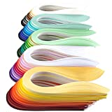 JUYA Single Color Paper Quilling Strips Set 60 Colors 39cm Length One Color 100 Strips per Pack Paper Width 3mm (0.12 in)