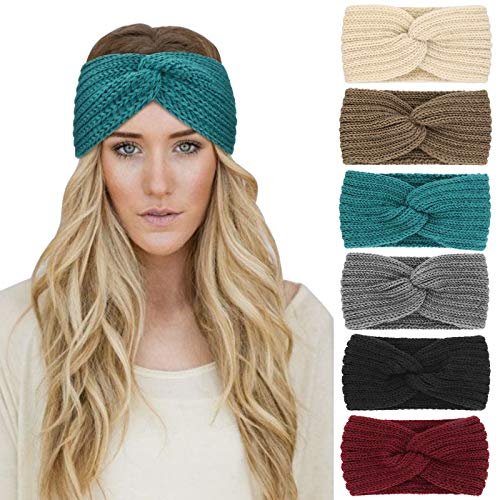 DRESHOW Crochet Ear Warmer Headband Soft knit Turban Stretch Headbands...