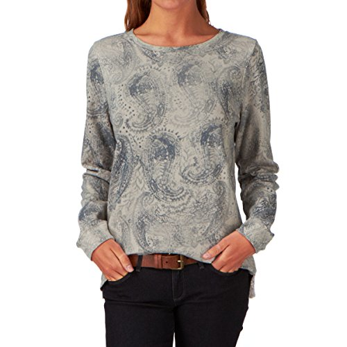 Roxy Fight For You - Sweat-shirt - Manches longues - Femme - Gris (Batik Print Combo New Stone Sg) - FR: 36 (Taille fabricant: S)