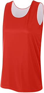 A4 Sportswear Mens, Ladies & Youth Reversible Sleeveless (Custom or Blank Back) Wicking Sports Tank Jersey Top (13 Colors)