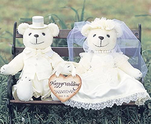針・綿200g付き ウェルカムボードにもなる ウェディングベア(クリーム)手作りキット メモリアルなウエルカムベア ウェルカムドール くま ぬいぐるみ手芸パック 結婚式 diy 結婚祝い