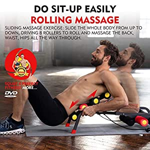MBB EZ Squatting, Roller Massage Machine,Home Gym Equipment, 10 in 1 Exercise Machine,Ab Machine,Burn Fat All Over Your Body,Protect Your Knees. Abs and Total Body Workout,Brand and Patent Owner