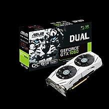 ASUS GeForce GTX 1060 6GB Dual-Fan OC Edition VR Ready Dual HDMI DP 1.4 Gaming Graphics Card (DUAL-GTX1060-O6G) (Renewed)