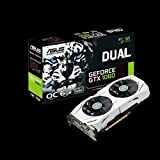 ASUS GeForce GTX 1060 6GB Dual-Fan OC Edition VR Ready Dual HDMI DP 1.4 Gaming Graphics Card (DUAL-GTX1060-O6G) (Renewed)