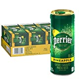 Perrier Pineapple Flavored Carbonated Mineral Water, Slim Cans, (10 Count of 8.45 Fl Oz Cans) 84.5 Fl Oz, Pack of 3