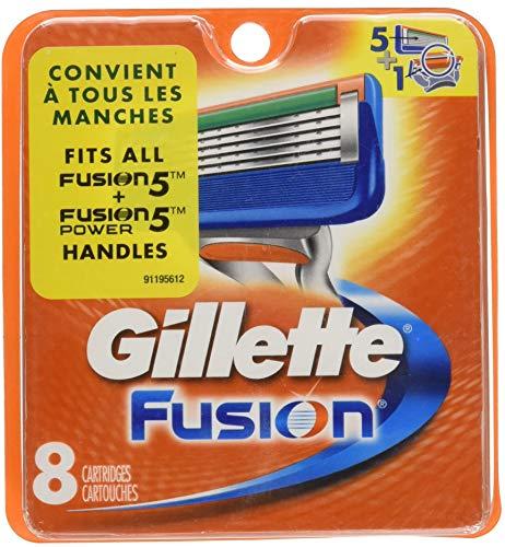 Gillette - Lamette da rasoio Fusion, confezione da 8 ricariche