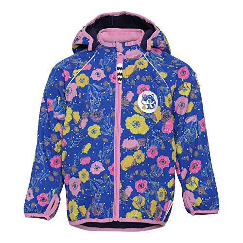 Racoon Girls Softshell Jacket, Flower, 134