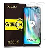QULLOO Panzerglas für Motorola Moto G9 Play, Anti- Kratzer Schutzfolie HD Bildschirmschutzfolie 9H Hartglas Panzerglasfolie Handy Glas Folie für Moto G9 Play - [2 Stück]