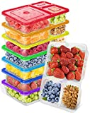 LUCENTEE Snack Containers Kids Lunch Containers for Kids Bento Lunch Boxes Lunch Containers with Compartments Bento Snack Boxes Compartment Lunch Containers (7 pack)