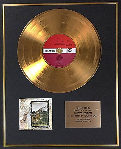 Century Music Awards Led Zeppelin - Edición Limitada Exclusiva Disco Oro de 24 quilates - IV