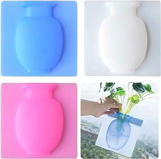 3 Stück Silikon Vase zum Kleben, ZoneYan Selbstklebende Silikon-Vasen, Silikon Blumenvasen, Magische Vase, Sticky Vase, Kr...