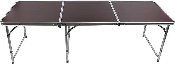 طاولة رحلات قابله للطى ، الومنيوم ، بنى - AL448