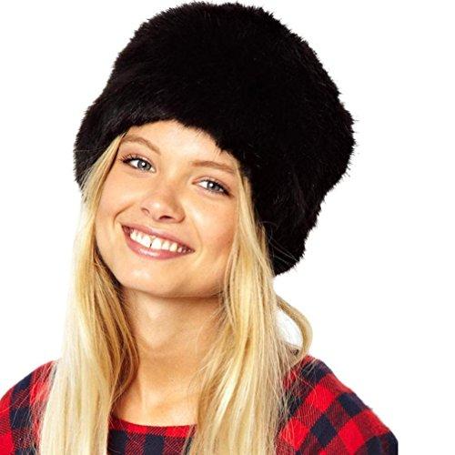 Sombrero de invierno de mujer de moda Mantenga caliente tocado de piel