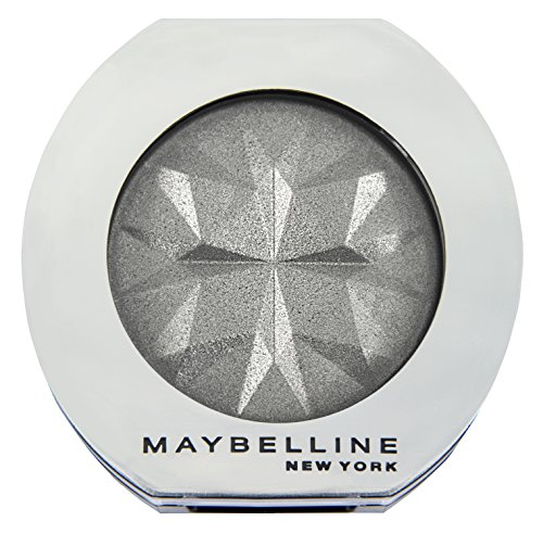 Maybelline New York Lidschatten Colorshow Mono Shadow Silver Oyster 38 / Eyeshadow Silber Metallic Finish, leuchtende Farben, intensive Deckkraft, 1 x 3 g