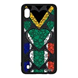 utaupia Coque Silicone Samsung A10 Drapeau Afrique du sud Africain Foot I Love jo Coeur Rugby Mobile Jeux Olympiques Made in France Galaxy