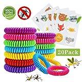 Pulsera Repelente de Mosquitos 15 Pcs y Pegatinas Antimosquitos 5 Piezas, Set de Repelentes de Insectos para Niños y Adultos, Familia, Camping, Viajes y Actividades al Aire Libre