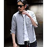 ラトルトラップ(RattleTrap) <新色追加>フレンチリネンシャツ(ホリゾンタルカラー、7分袖)【10グレー/M】