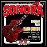 Sonora Strings SN75 Bajo Quinto Strings - Phoshor Bronze Wound - Loop End - Made In USA - The Quality Of Sound