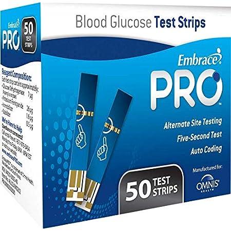 Embrace Pro Blood Glucose Test Strips 100ct