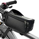 YINUOYI Borsa Telaio Bici, Borsa da Manubrio per Biciclette Impermeabile, Con Finestra Touch Screen, Molto Adatto per la Navigazione del Cellulare, Adatto per Telefoni Cellulari Sotto I 6,2 Pollici