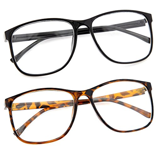 large frame clear glasses - amycoz