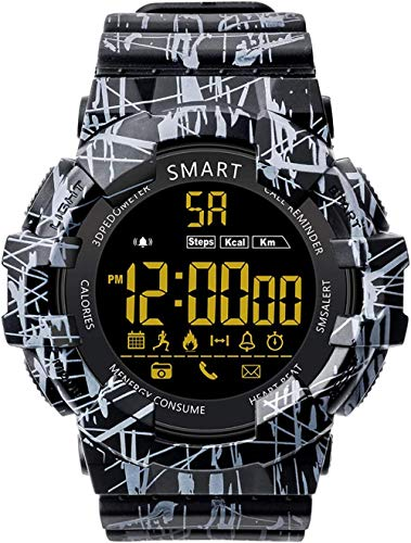 Outdoor Smart Watch 5ATM Waterproof Information Reminder Ultra-Long Standby One-Click Camera Outdoor Swimming Smart Watch The Best Gift Camou red-Camou_Black