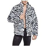 BaZhaHei Mode Herren Leopard Winter Warm Fashion Outdoor Mantel Kragen Fleecejacke Fleecemantel Sweatshirt Sport Wetterschutzjacke Jacke Parka